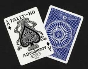 Jeu de cartes Tally-ho poker circle Bleu