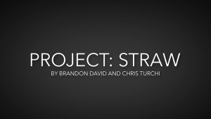 Project Straw by Brandon David & Chris Turchi video