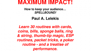 MAXIMUM IMPACT by Paul A. Lelekis eBook