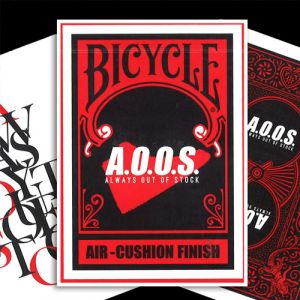 Bicycle jeu de cartes poker AOOS