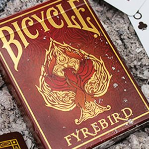 bicycle fyrebird tour de magie carte à jouer bicycle