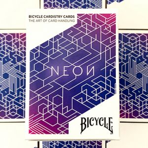 JEU DE CARTES BICYCLE NEON BLUE AURORA