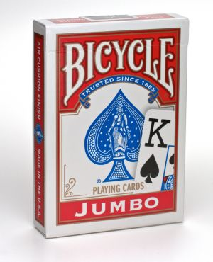 Carte Bicycle Jumbo Index Rouge
