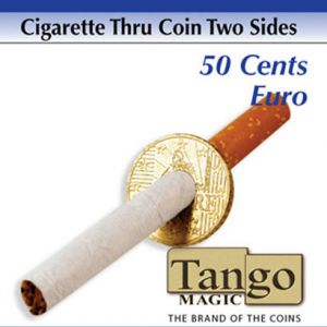 CIGARETTE À TRAVERS LA PIECE - 50 CTS EURO