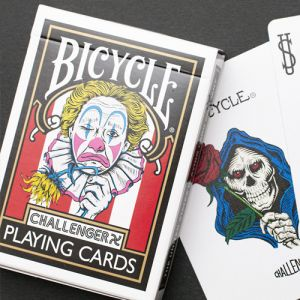 jeu de cartes bicycle chalenger mort clown