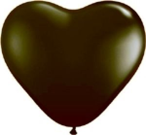 Ballon Coeur 6 inch Noir - Qualatex