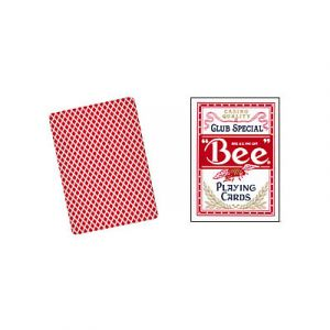 Jeu de cartes Bicycle Bee format poker Rouge