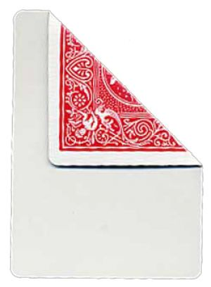 Carte Bicycle Face Blanche Dos Rouge