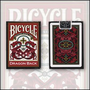 Jeu de carte Bicycle dragon Back - Rouge