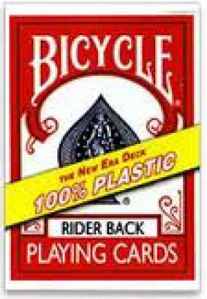 Carte Bicycle Rider Back 100% Plastique - Rouge