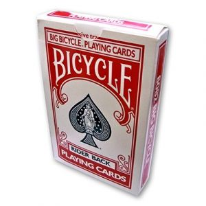 Jeu de cartes Bicycle JUMBO - rouge