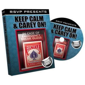 dvd de magie Kepp Calm and carry on du magicien john careay