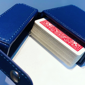 MAZE LEATHER CARD CASE (BLEU)
