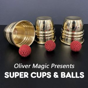 deluxe cups and balls balles gobelets crochet aluminium poids lourds impossible wow gimmick