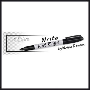 Write Not Right - Wayne Dobson