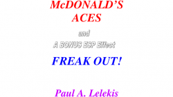 McDonald's Aces and Freak Out! by Paul A. Lelekis Mixed Media