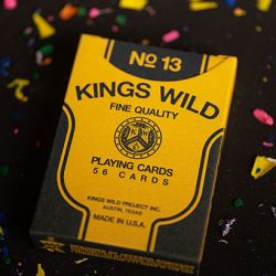 jeu de cartes back to school kings wild 13 poker luxe magicien magician playing cards