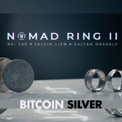 NOMAD RING MARK II - BITCOIN SILVER