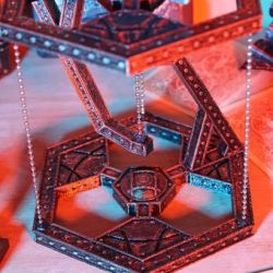steampunk tensegrity stand retro rocketeers
