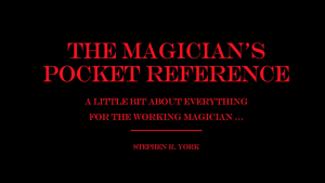 The Magician's Pocket Reference by Stephen R. York eBook