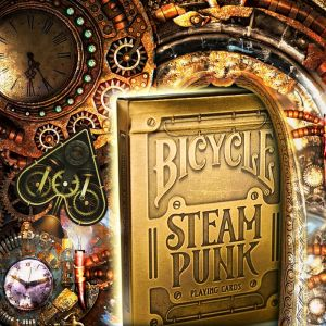BICYCLE STEAMPUNK GOLD - Jeu de Cartes