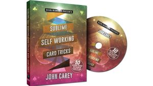 DVD de magie Sublime Self Working Card Tricks du magicien John Carey