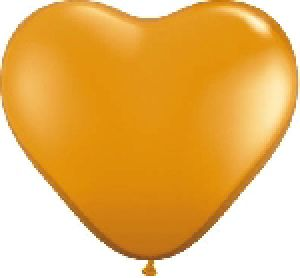 Ballon Coeur 6 inch Orange - Qualatex