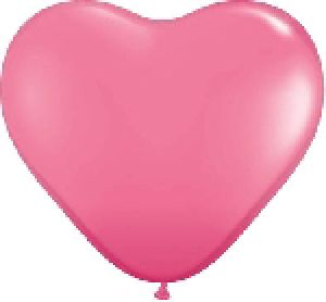 Ballon Coeur 6 inch Rose - Qualatex