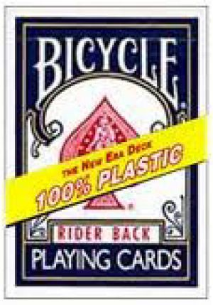 Carte Bicycle Rider Back 100% Plastique - bleu