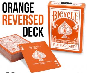 magie, Jeu de cartes bicycle rider back reversed orange