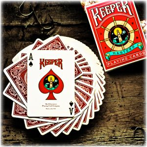 magie jeu de cartes KEEPER rouge par ELLUSIONIST