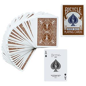 magie Jeu de cartes Bicycle Marron