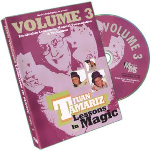 DVD Lessons in Magic Vol.3 du magicien Juan Tamariz