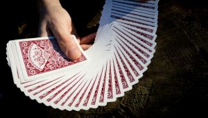 magie, jeu de cartes new fan back dos rouge