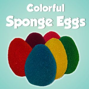 OEUFS MOUSSES COULEURS - SPONGE EGGS