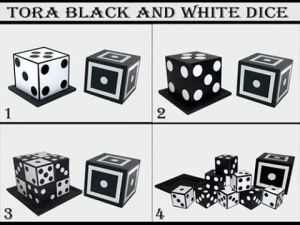 Tora Magic Black and White Dice
