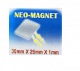 Aimant rectangulaire : 30mmx 25mm x 1mm